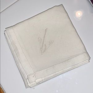 Vintage men's handkerchief with embroidery